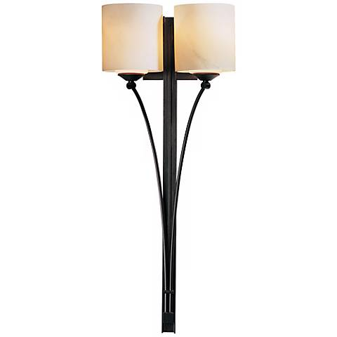 "Formae Contemporary Stone Glass 29 1/2"" High 2-Light Sconce"
