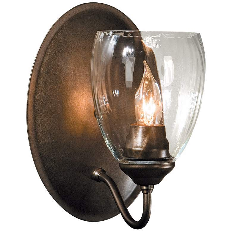 """Simple Lines Collection Water Glass 8 3/4"""" High Wall Sconce"""