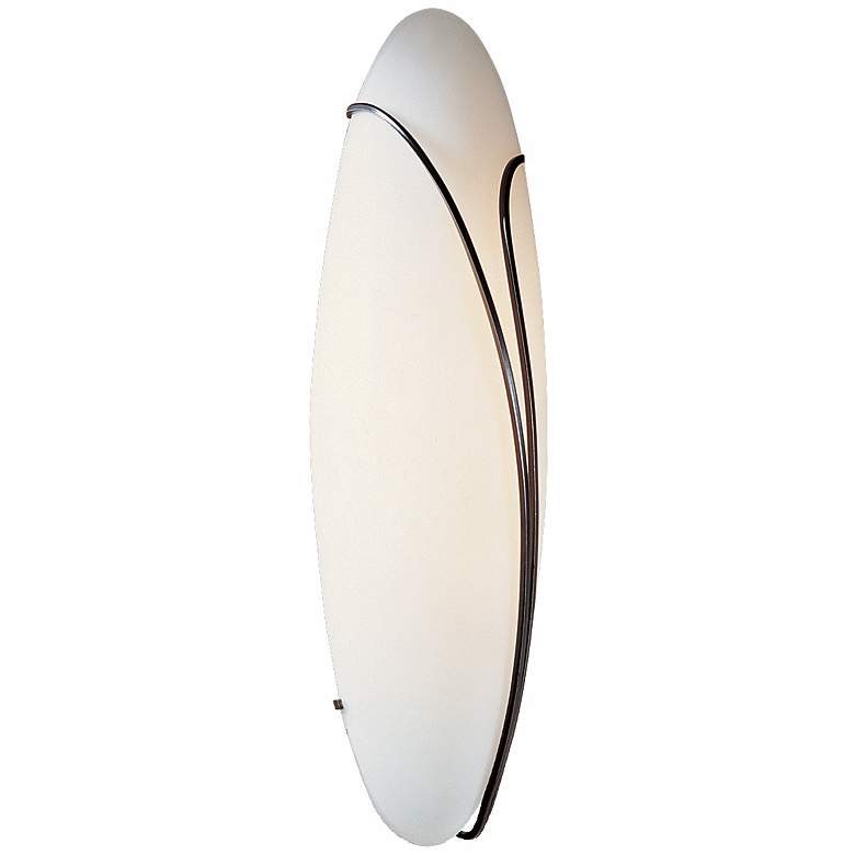"""Oval Reed Right Opal Glass 20"""" High Wall Sconce"""