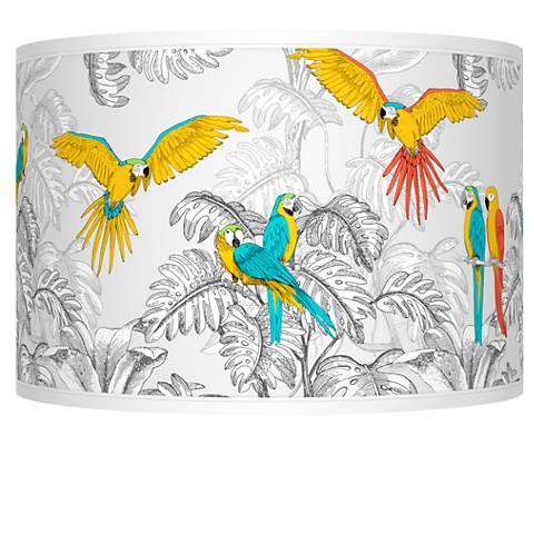 Macaw Jungle Giclee Shade 12x12x8.5 (Spider)