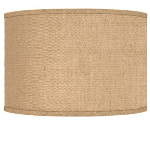 Woven burlap drum lamp shade 12x12x85 spider j8517 2w552 woven burlap drum lamp shade 12x12x85 spider aloadofball Images