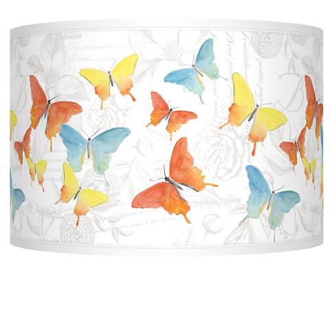 Pastel Butterflies Giclee Shade 12x12x8.5 (Spider)