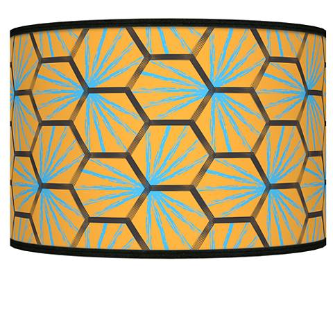 Hexagon Starburst Giclee Shade 12x12x8.5 (Spider)
