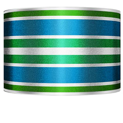 Multi Color Stripes Silver Metallic Shade 12x12x8.5 (Spider)