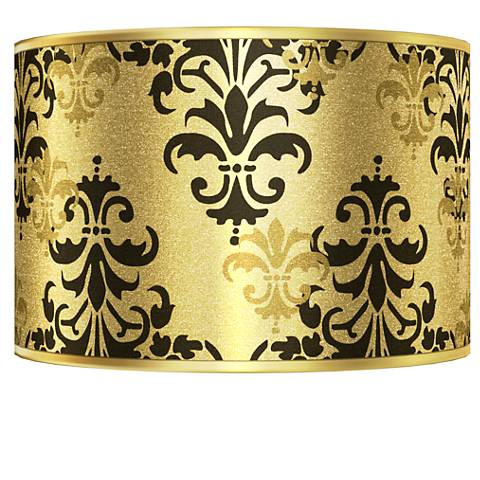 Damask Shadow Gold Metallic Giclee Shade 12x12x8.5 (Spider)