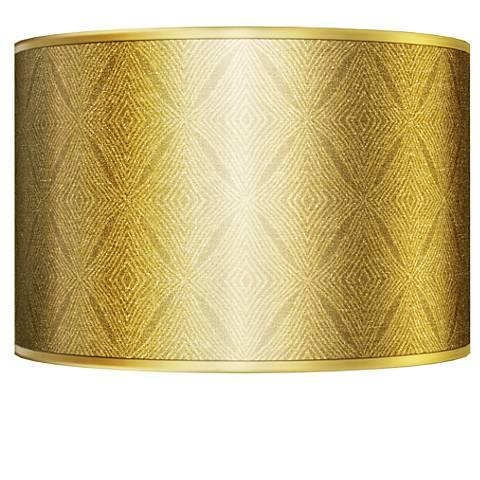 Moroccan Diamonds Gold Metallic Giclee Shade 12x12x8.5 (Spider)