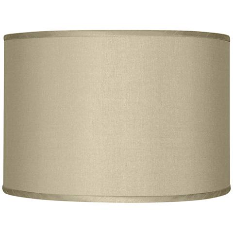 Sesame Faux Silk Drum Shade 12x12x8.5 (Spider)