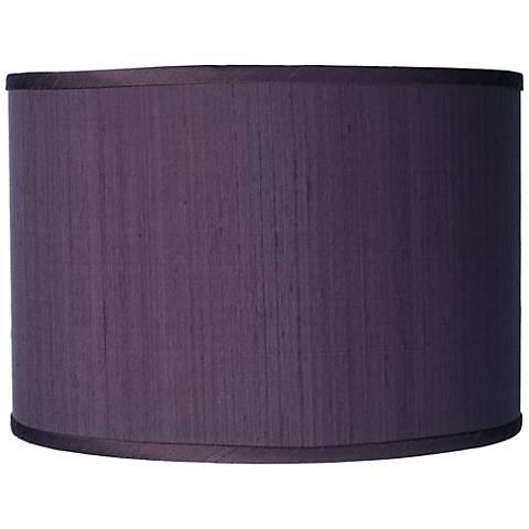 Eggplant Faux Silk Drum Shade 12x12x8.5 (Spider)
