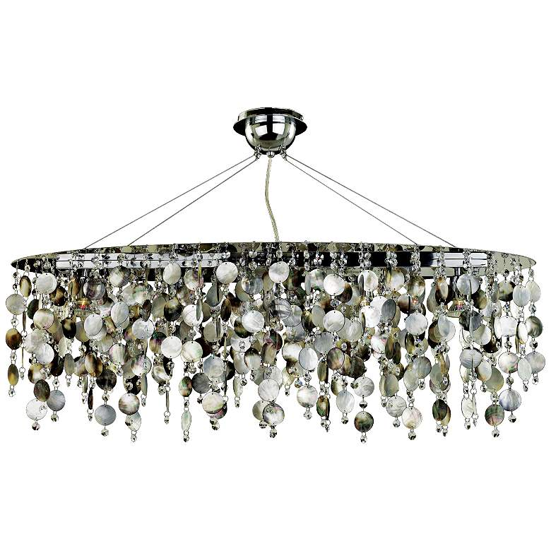 """Midnight Pearl 38"""" Wide Large Pendant Chandelier"""