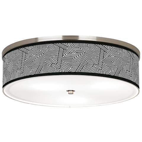 "Labyrinth Giclee Nickel 20 1/4"" Wide Ceiling Light"