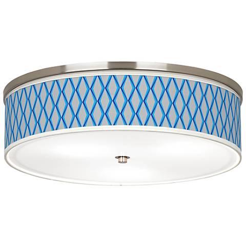 """Bleu Matrix Giclee Nickel 20 1/4"""" Wide Ceiling Light"""