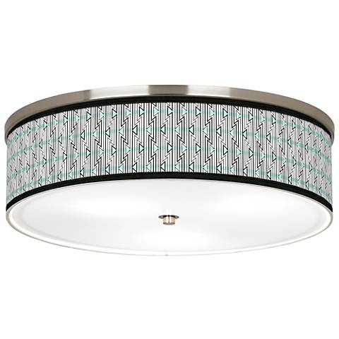 "Indigenous Giclee Nickel 20 1/4"" Wide Ceiling Light"