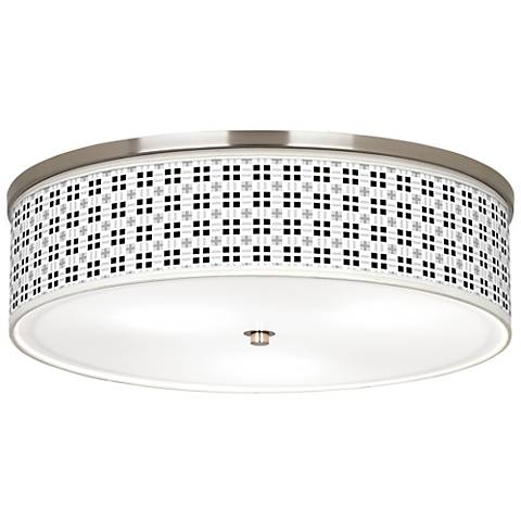 "Quadrant Giclee Nickel 20 1/4"" Wide Ceiling Light"