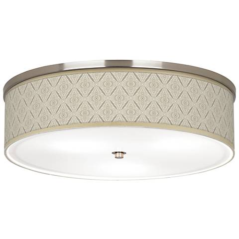 "Moroccan Diamonds Giclee Nickel 20 1/4"" Wide Ceiling Light"