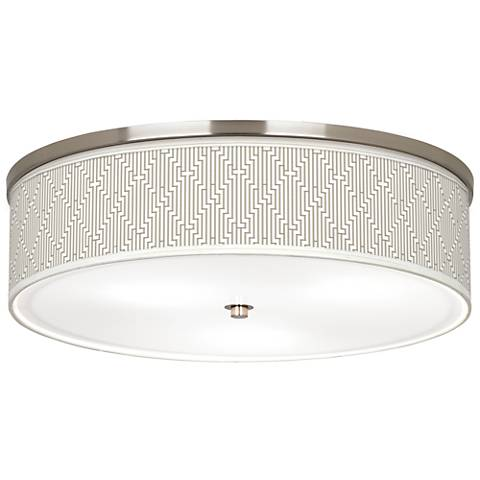 "Diamond Maze Giclee Nickel 20 1/4"" Wide Ceiling Light"