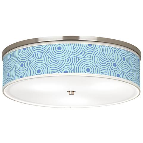 "Circle Daze Giclee Nickel 20 1/4"" Wide Ceiling Light"