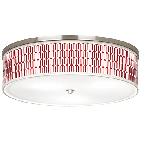 "Amaze Giclee Nickel 20 1/4"" Wide Ceiling Light"