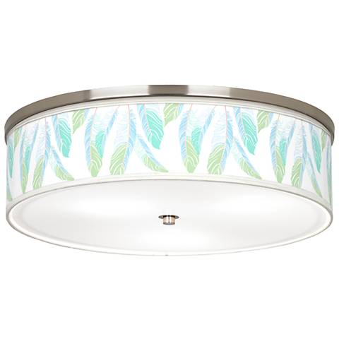 "Light as a Feather Giclee Nickel 20 1/4""WCeiling Light"