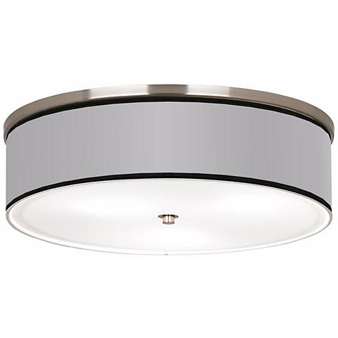 "All Silver Nickel 20 1/4"" Wide Ceiling Light"