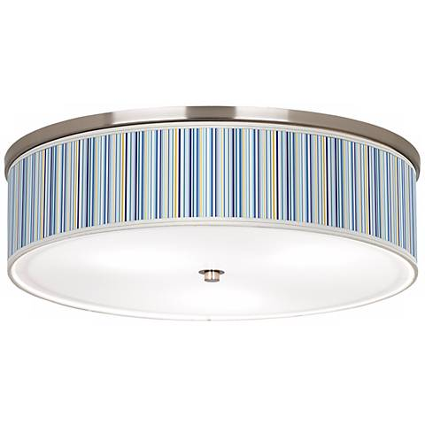 "Stacy Garcia Cabana Stripe Nickel 20 1/4"" Wide Ceiling Light"