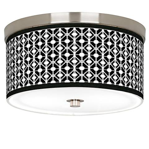 "Matrix Giclee Nickel 10 1/4"" Wide Ceiling Light"