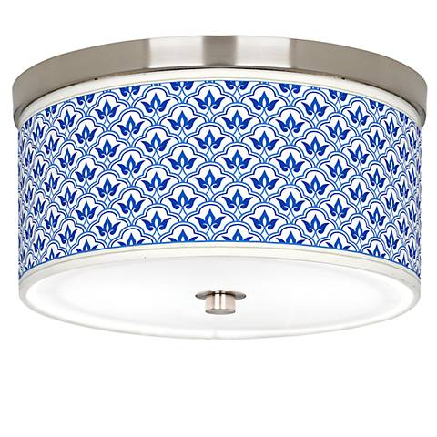 "Arabella Giclee Nickel 10 1/4"" Wide Ceiling Light"