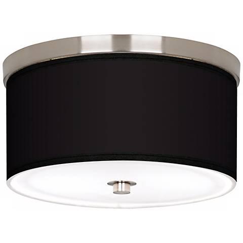 "All Black Nickel 10 1/4"" Wide Ceiling Light"