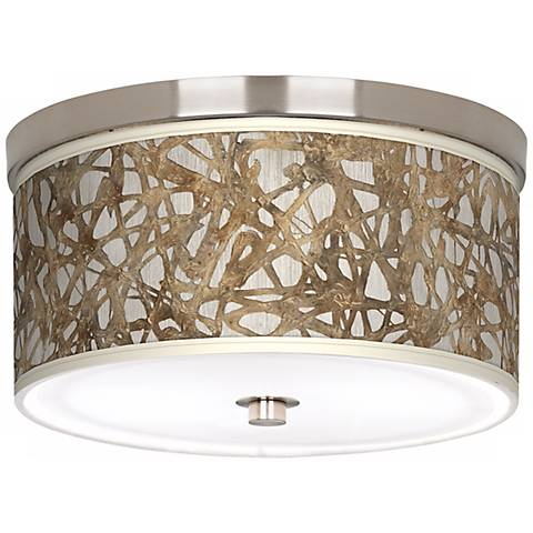 Organic Nest Giclee Nickel Energy Efficient Ceiling Light