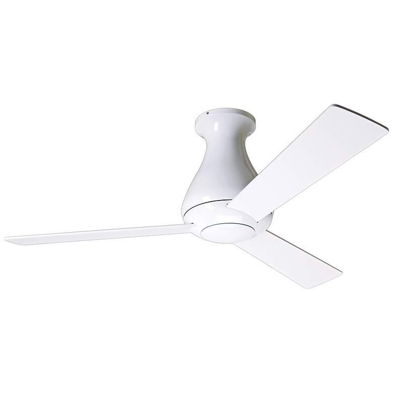 """42"""" Modern Fan Altus Gloss White Flush Mount Ceiling Fan"""