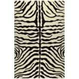 Zebra Stripe Brown Indoor Outdoor Rug