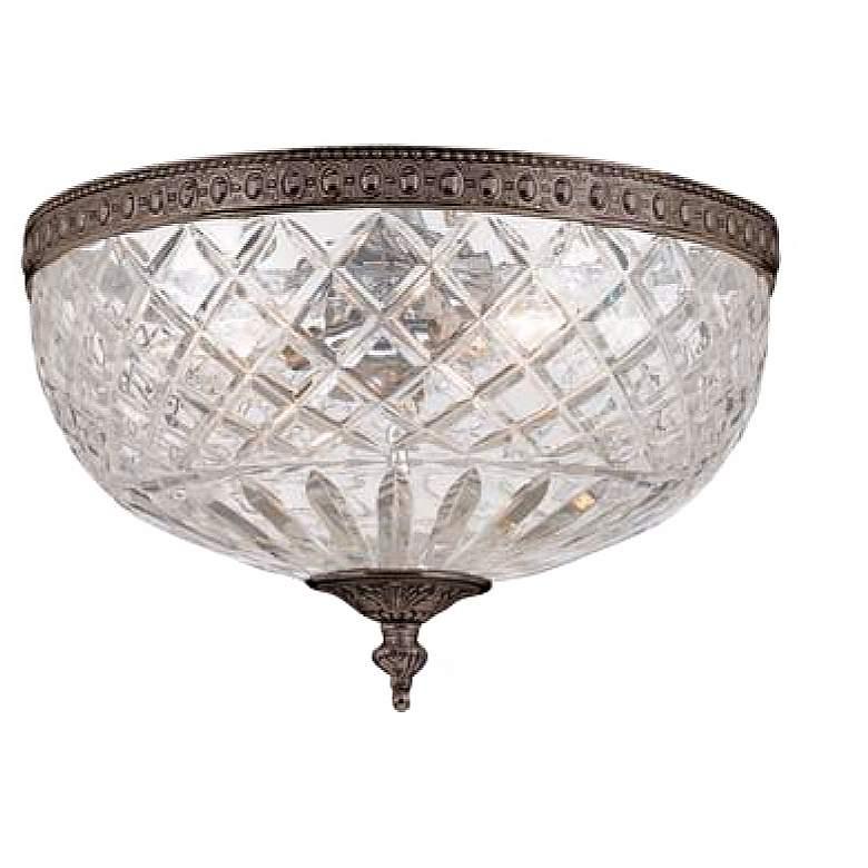 "Crystorama Majestic English Bronze 12"" Wide Ceiling Light"
