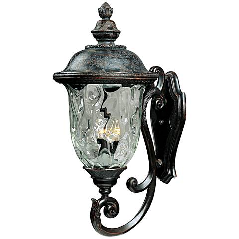 Carriage house collection 31 high outdoor wall light for Early american outdoor lighting