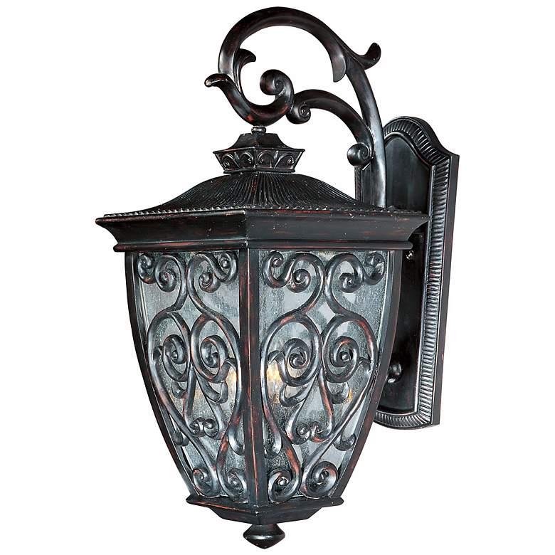 """Newbury 25"""" High Oriental Bronze Outdoor Wall Light"""
