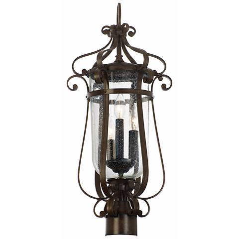 "Hartford Collection Bronze 24 1/4"" High Outdoor Post Light"
