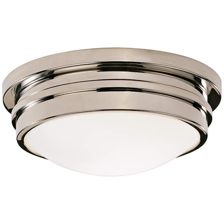"""Roderick Collection Nickel 10"""" Wide Flushmount Ceiling Light"""