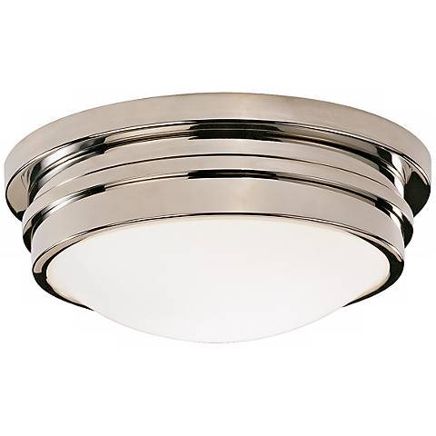 "Roderick Collection Nickel 10"" Wide Flushmount Ceiling Light"