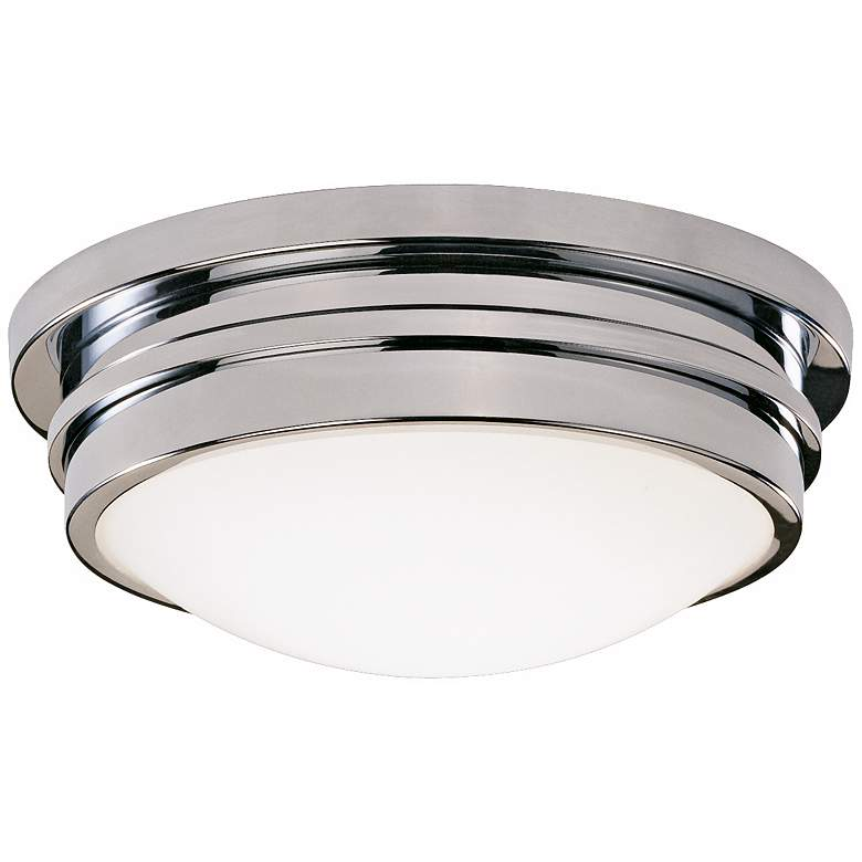 """Roderick Collection Chrome 10"""" Wide Flushmount Ceiling Light"""