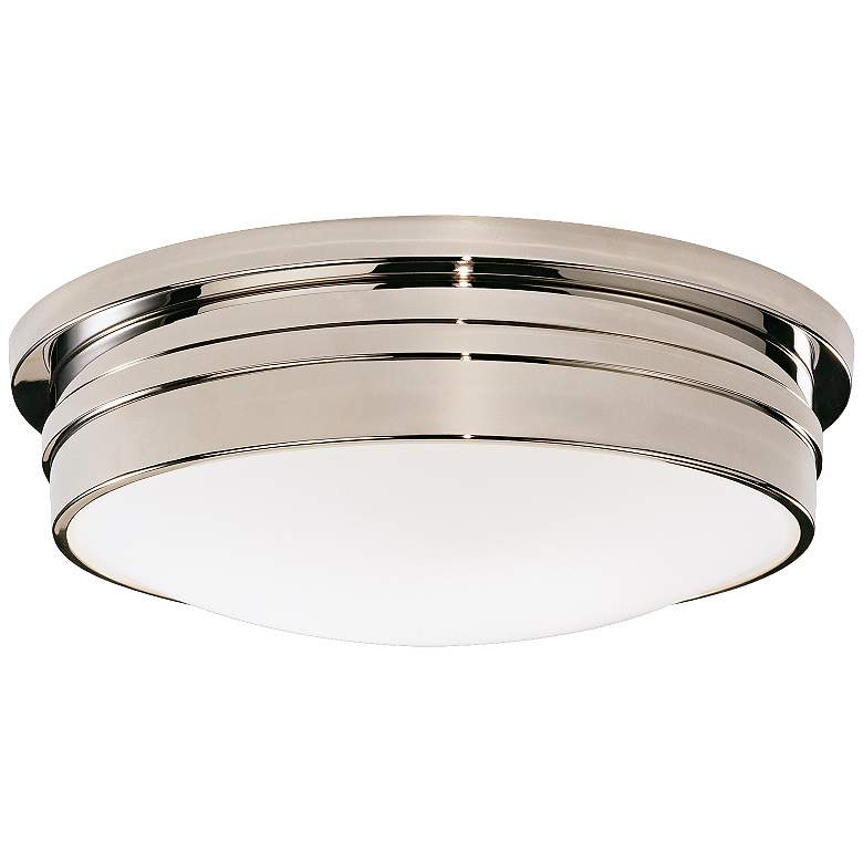 """Roderick Collection Nickel 17"""" Wide Flushmount Ceiling Light"""