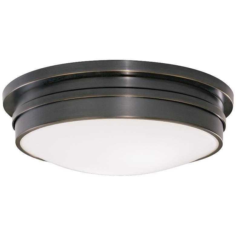 "Roderick Collection Bronze 17"" Wide Flushmount Ceiling Light"