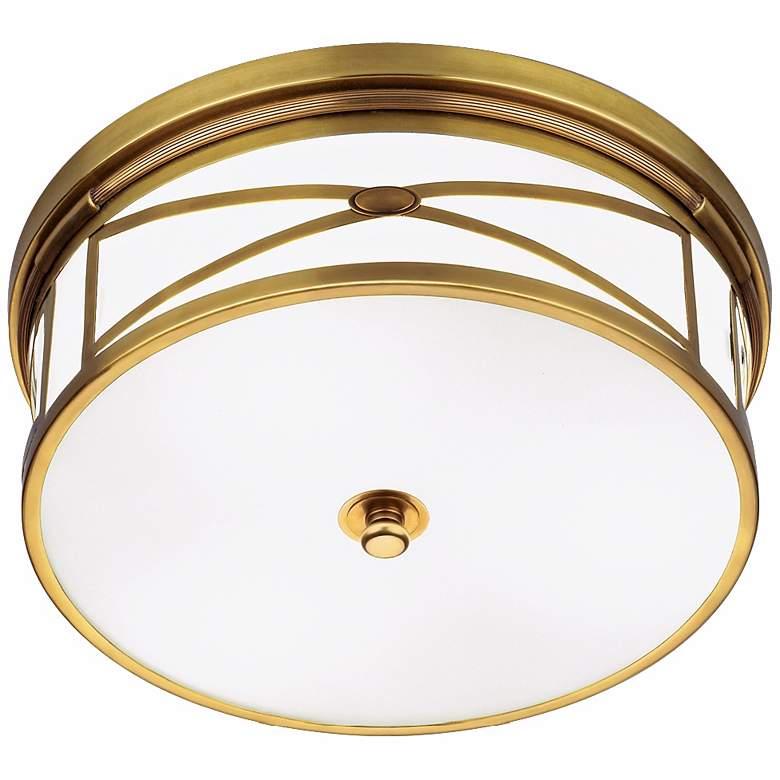 "Robert Abbey Chase Brass 15"" Wide Flushmount Ceiling Light"