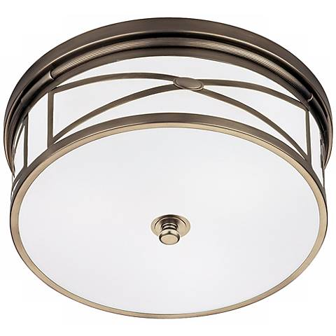 "Robert Abbey Dark Nickel 15"" Wide Flushmount Ceiling Light"