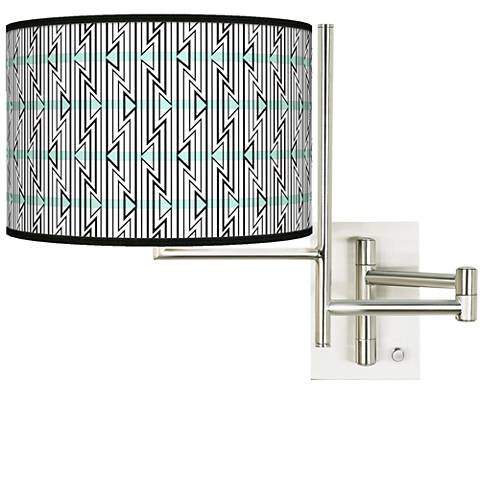 Tempo Indigenous Plug-in Swing Arm Wall Light