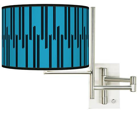 Tempo Segments Plug-in Swing Arm Wall Lamp