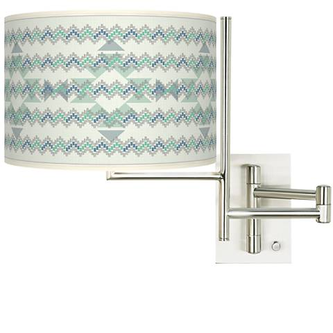 Tempo Triangular Stitch Plug-in Swing Arm Wall Lamp