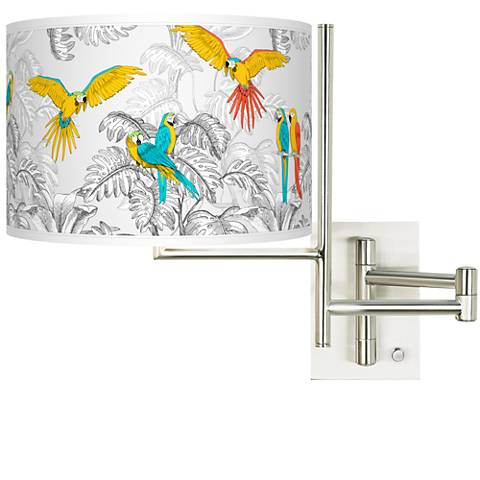 Tempo Macaw Jungle Plug-in Swing Arm Wall Lamp