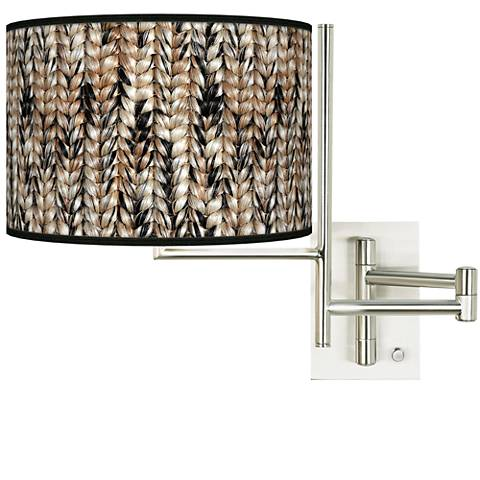 Tempo Braided Jute Plug-in Swing Arm Wall Lamp