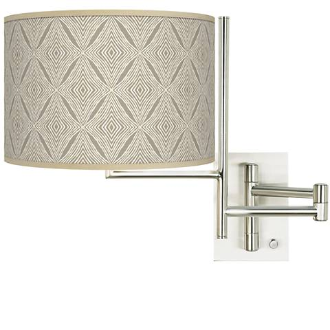 Tempo Moroccan Diamonds Plug-in Swing Arm Wall Lamp