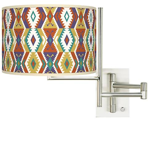 Tempo Southwest Bohemian Plug-in Swing Arm Wall Lamp