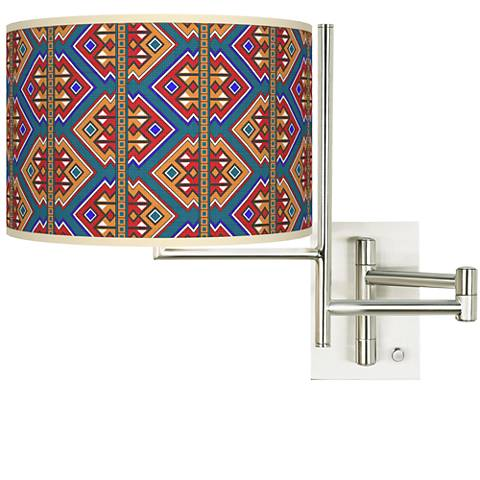 Tempo Rich Bohemian Plug-in Swing Arm Wall Lamp