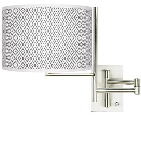 Tempo Diamonds Plug-in Swing Arm Wall Light